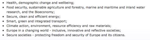 Innovatie - EU Grand challenges