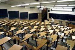 Onderwijs - Lege collegezaal