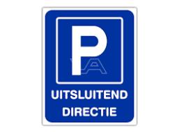 Organisatie - Parkeerplaats directie