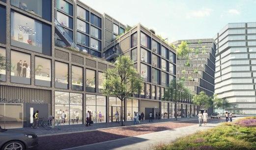 Zuidas Team-V-Architectuur foto Zwartlicht